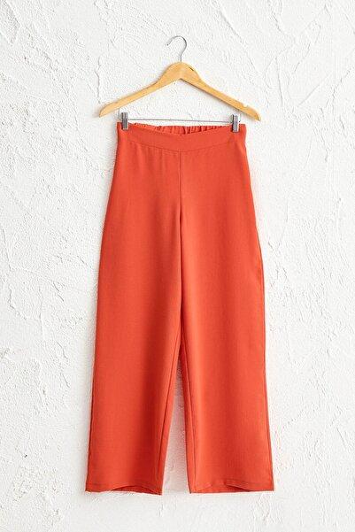LC Waikiki Kadın Turuncu Pantolon 0WBS46Z8