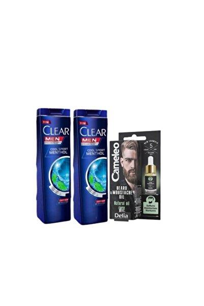 Clear Erkek Cilt Bakım Seti - Men Şampuan 180 Ml X 2 + Delia Sakal&bıyık Serumu 10 Ml
