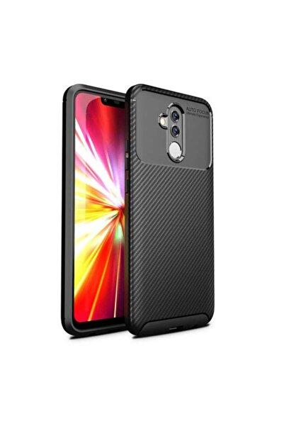 Fibaks Huawei Mate 20 Lite Kılıf Rugged Armor Negro Karbon Silikon