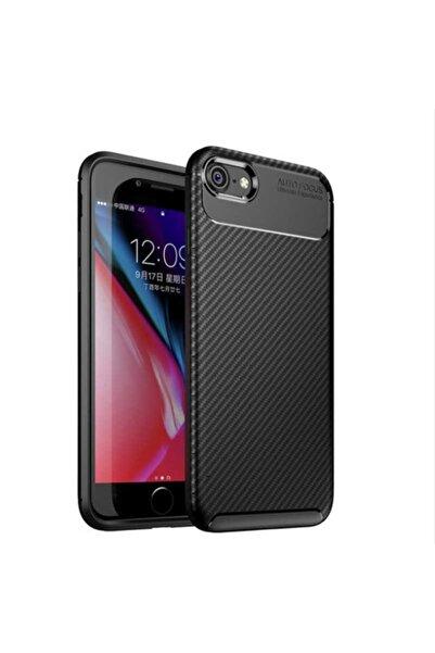 Fibaks Apple Iphone 6s Kılıf Rugged Armor Negro Karbon Silikon + Nano Cam