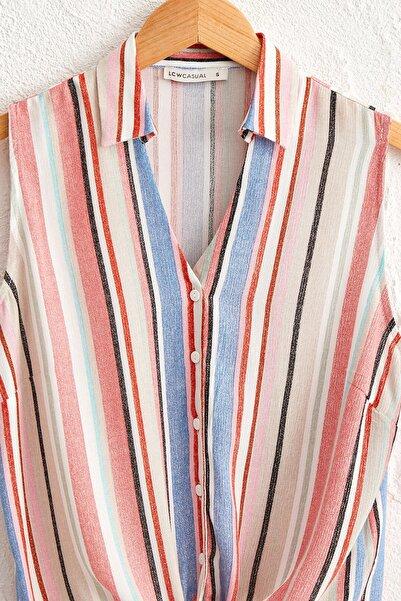Kadın Karışık Çizgili Gömlek 0SB136Z8