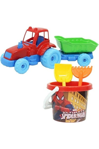 DEDE Spiderman Traktör Plaj Seti