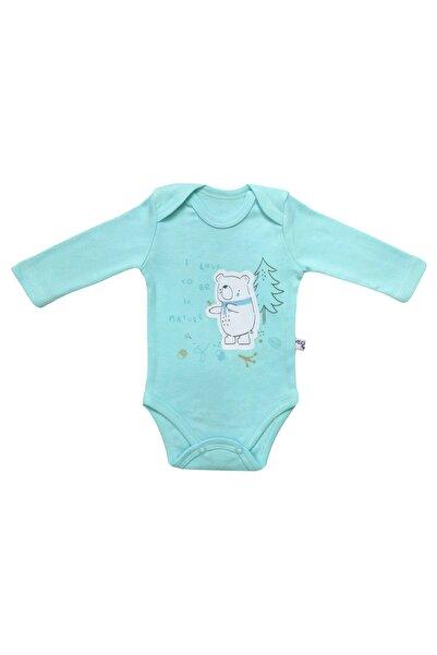 Veo Baby Erkek Çocuk Açık Mavi Uzun Kollu Body