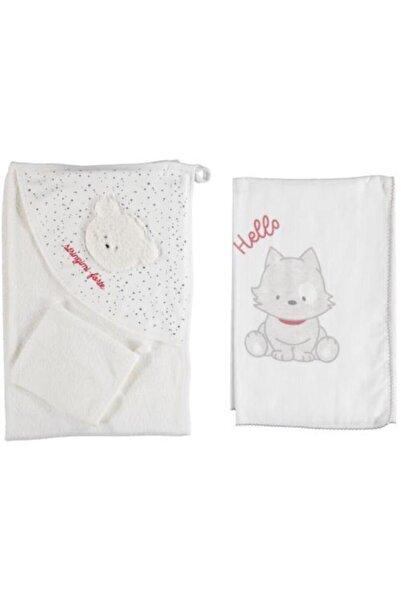Bibaby Hello Bear 3'lü Müslin Örtü Ve Banyo Havlu Set