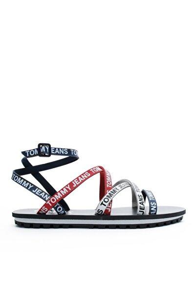 Tommy Hilfiger Cleated Flat Kadın Lacivert Sandalet EN0EN00827 S