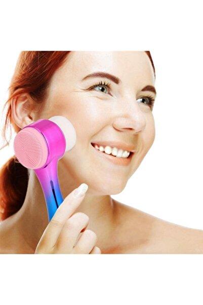 Buffer Çift Işlevli Renkli Cilt Yüz Temizleme Fırçası Peeling Masaj Etkili Gözenek Temizleyici Alet