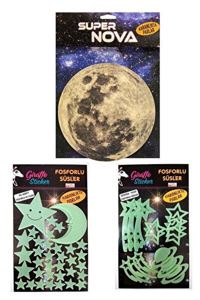 Artikel Karanlıkta Parlayan Ay Gezegen Yıldız