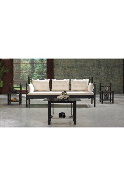Vivense Siyah Lalas Dks Metal Sofa Sedir 70x200cm