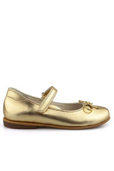 Cici Bebe Ayakkabı Kız Çocuk Altın Babet