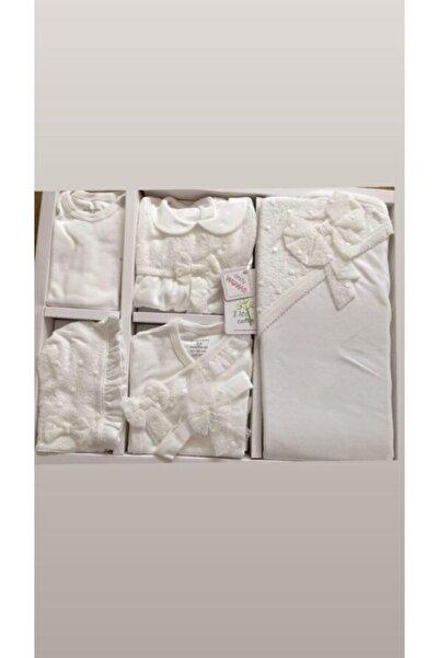 andywawa Kız Bebek  10'lu Hastane Çıkışı Beyaz Set