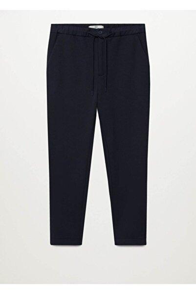 MANGO Man Erkek Lacivert Dar Kesim Comfy Pantolon