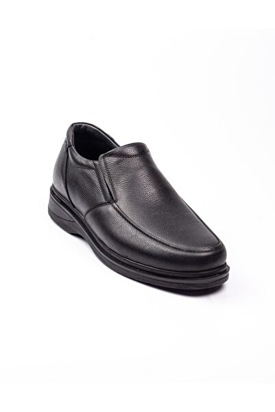 Modesa 100 Siyah Deri Mokasen Erkek Günlük Ayakkabı Siyah-43