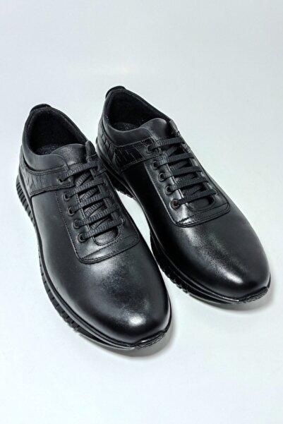 Masters Erkek Siyah Kışlık Deri Günlük Ayakkabı