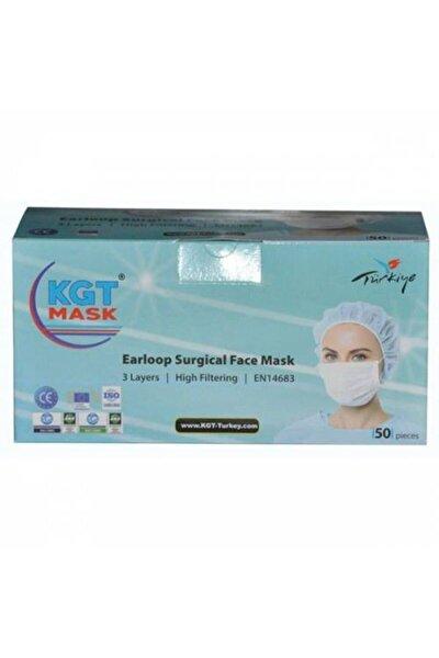 KGT Maske Ultrasonik 3 Katlı Telli Medikal 50 Adet