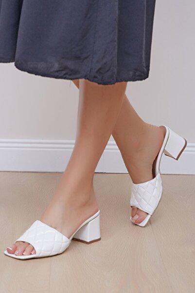 Shoes Time Kadın Beyaz Terlik 20y 808