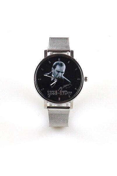 Ricardo Silver Hasır Atatürk Portreli Kol Saati (kutulu)