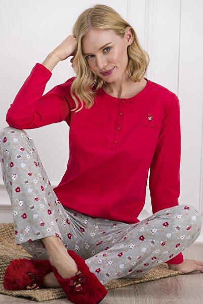 Pierre Cardin Kadın Kırmızı Pijama Takımı