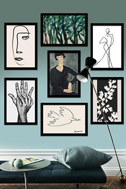 Kate Louise 7 Parça Çerçeve Görünümlü Mdf Tablo Seti (60x60 Cm)