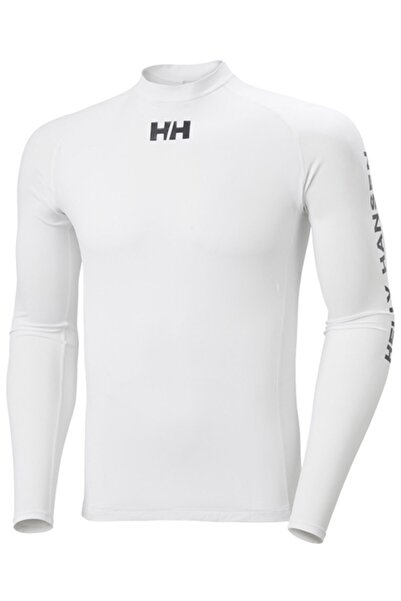 Helly Hansen Erkek Beyaz Hh Waterwear Rashguard Body