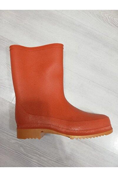 ULAŞ ÇİZME Ulaş Krep Çizme Erkek Turuncu Plastik Çizme Kısa Boğaz