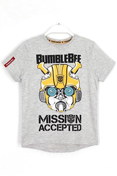 transformers Bumblebee Baskılı Erkek Çocuk T-shirt 2 - 8 Yaş Gri