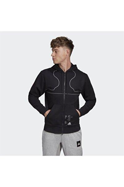 adidas Erkek Footwear Print Full-zip Hoodie Sweatshirt