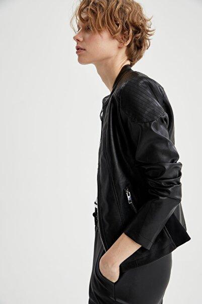 DeFacto Kadın Siyah Ceket