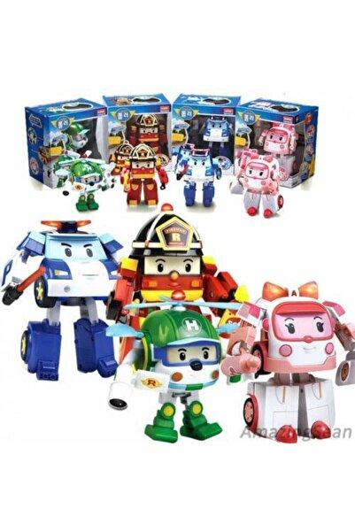 Anıl Poli Robocar Dönüşebilen Robot Transformers Oyuncak 4 Adet Set