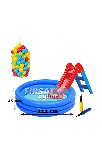 Dolu Günün Fırsatı     İlk Kaydırağım Şişme Havuz ve 100 lü Top Set Oyun Havuzu Pompa Hediyeli