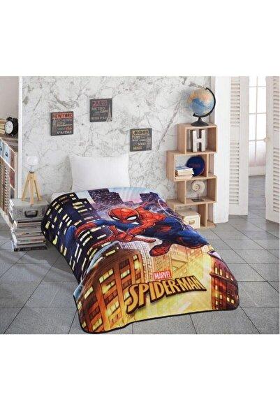 Özdilek Spiderman Night Disney Lisanslı Tek Kişilik Battaniye Mavi 150x200
