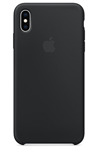 Ebotek Iphone Xs Max Kılıf Silikon Içi Kadife Lansman Siyah