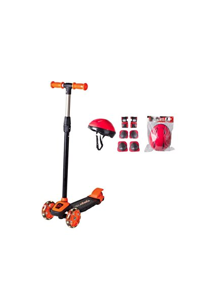 Cool Wheels Led Işıklı 3 Tekerlekli Twist Çocuk Scooter Full Set Turuncu