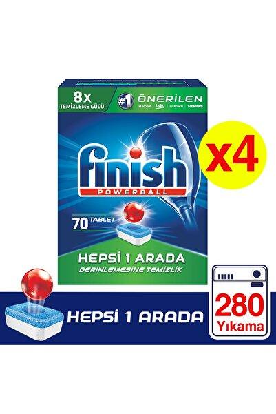 Finish Hepsi Bir Arada 280 Tablet Bulaşık Makinesi Deterjanı (70x4)