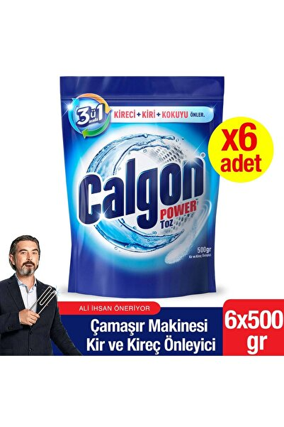 Calgon Çamaşır Makinesi Kireç Önleyici Toz 500 Gr X 6 Adet