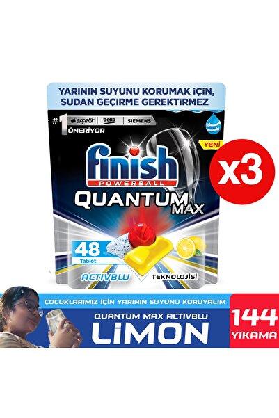 Finish Quantum Max Bulaşık Makinesi Deterjanı 144 Kapsül Limonlu 48 X 3