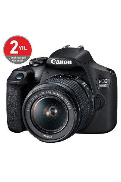 Canon EOS 2000D + EF-S 18-55mm f/3.5-5.6 DC III Fotoğraf Makinesi (Canon Eurasia Garantili)