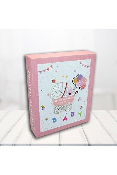Süsle Baby Party Bebek Fotoğraf Albümü, Kutulu Ve 80 Resimlik, Pembe