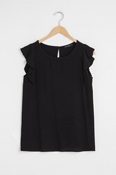 LC Waikiki Kadın Siyah Bluz