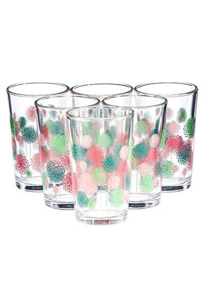 Paşabahçe Spring Flowers Kahve Yanı Su Bardağı 100 Cc | 6lı Set