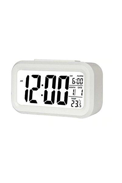 checkmate Dijital Masa Saati Fotoselli Alarmlı Işıklı Termometre Takvim