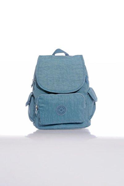 SMART BAGS Orta Boy Krinkıl Kumaş Bayan Sırt Çantası 1084 50 Buz Mavisi