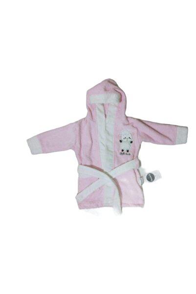 Miniworld Unisex Kuzulu Kız Bebek Bornoz Pembe
