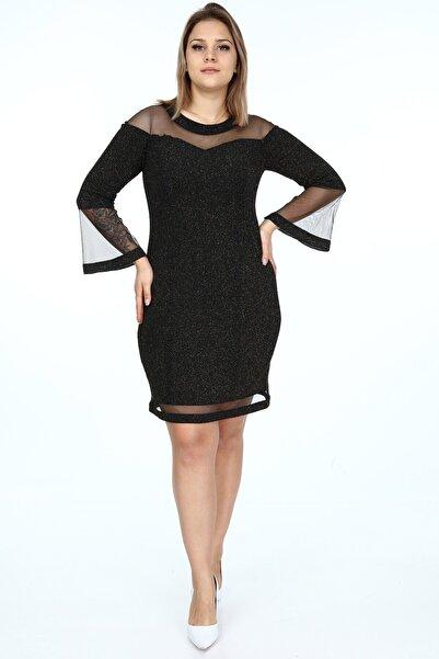 Asees Kadın Siyah Abiye Elbise