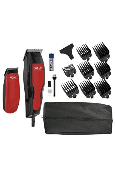 Wahl 1395 Homepro 100 Combo Kablolu Kırmızı Saç Kesme Makinesi Ve Mini Düzeltici 1395 0466