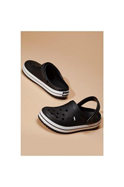 Akınal Bella Akınalbella Unısex Siyah Crocs Tipi Sabo Terlik