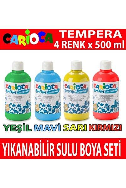 CARIOCA Tempera Yıkanabilir Sulu Boya Seti 4 Renk X 500 ml.