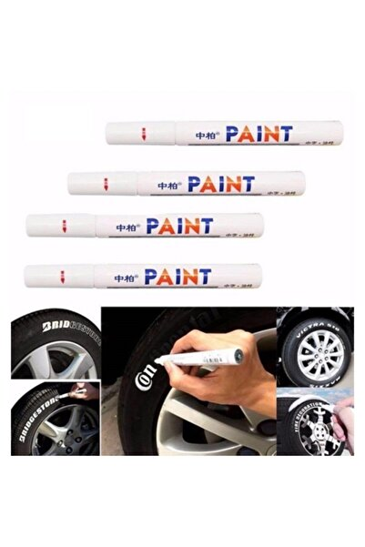 ModaCar ModaCar 4 ADET Lastik Yazısı Beyaz Renklendirme Kalemi 428135