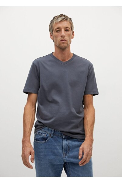 MANGO Man %100 Sürdürülebilir Pamuklu Tişört