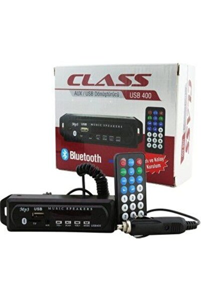 Aclass Oto Teyp Dönüştürücü Aux Girişli Bluetooth Sd Kart  Usb
