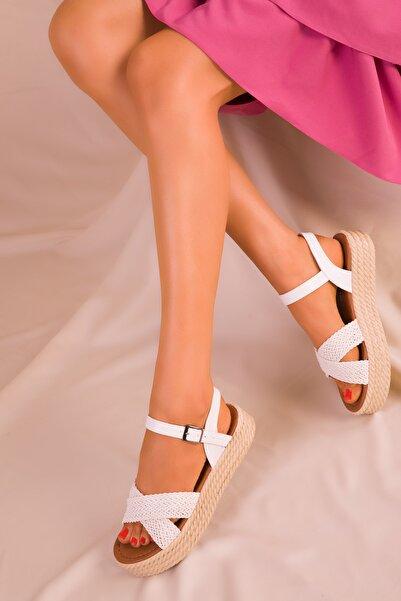 SOHO Beyaz Kadın Sandalet 14952